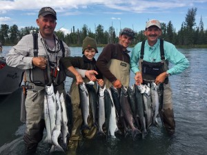 Load of sockeye salmon with Jason Lesmeister fishing
